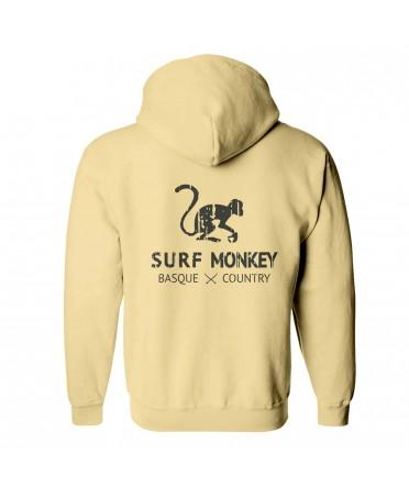 Surf Monkey -/- Sudadera Amarilla con Auriculares y micrófono Lavables - comercio justo