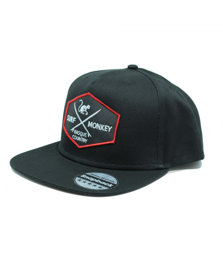 Surf Monkey Trucker Cap -/- Surf Style -/- Surf Monkey Trucker Cap -/- Surf Style -/- 5 Panel Snapback Rapper Black Cap