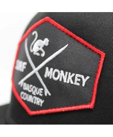Surf Monkey Trucker Cap -/- Surf Style -/- Surf Monkey Trucker Cap -/- Surf Style -/- 5 Panel Snapback Rapper schwarze cap